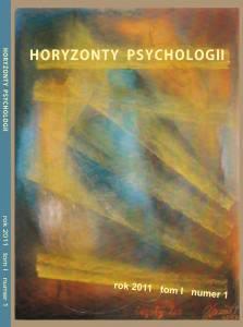 Horyzonty Psychologii 2011 okladka