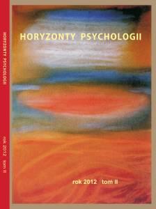 Horyzonty Psychologii 2012 okładka