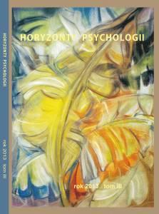Horyzonty Psychologii 2013 okładka