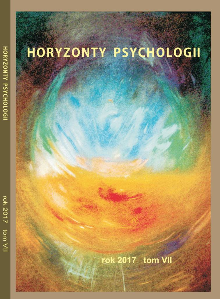 Horyzonty Psychologii 2017 okładka